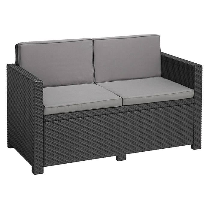allibert loungesofa monaco 129 cm anthrazit bauhaus. Black Bedroom Furniture Sets. Home Design Ideas