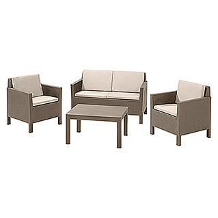 Allibert Loungemöbel-Set Orlando (4-tlg., Polypropylen, Cappuccino)