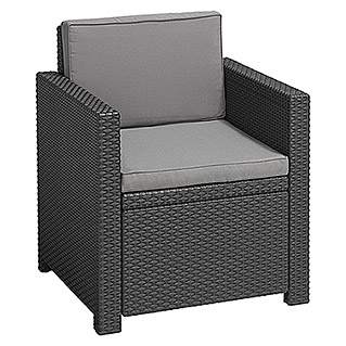 Allibert Loungesessel Monaco (Breite: 65 cm, Polypropylen, Anthrazit)