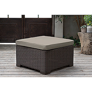 Allibert Lounge-Hocker California (68 x 68 x 35 cm, Polypropylen, Braun)