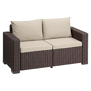 Allibert Lounge Sofa California (141 cm, Polypropylen, Braun)