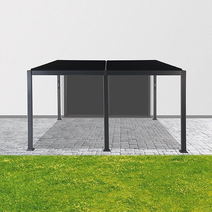 Sunfun Anstellpavillon (3 x 4 x 2,4 m, Anthrazit)