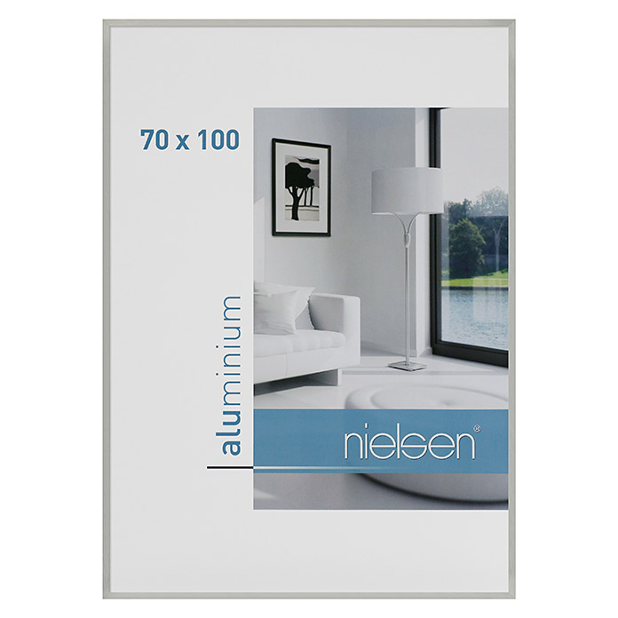 nielsen bilderrahmen c2 silber 100 x 70 cm aluminium bauhaus. Black Bedroom Furniture Sets. Home Design Ideas