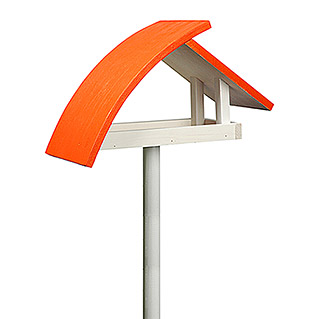 Dobar Vogelhaus Luxus  New Wave (39 x 18 x 161 cm, Weiß/Orange, Holz)