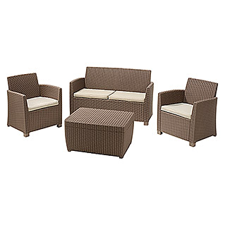 Allibert Loungemöbel-Set Corona (4-tlg., Polypropylen, Cappuccino)