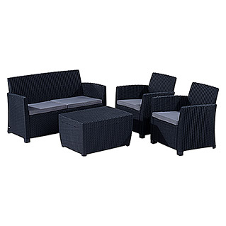 Allibert Loungemöbel-Set Corona (4-tlg., Polypropylen, Anthrazit)