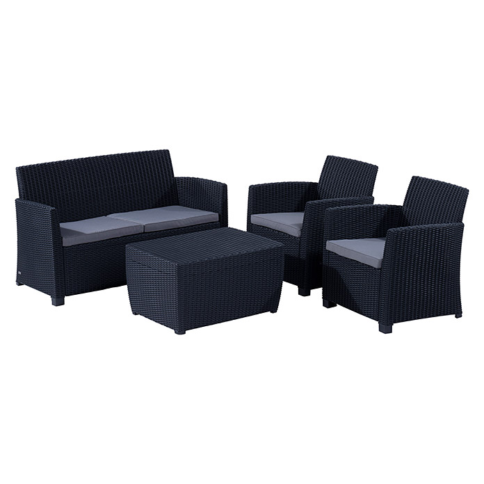 Allibert Loungemöbel-Set Corona (4-tlg., Anthrazit) | 8303 ...