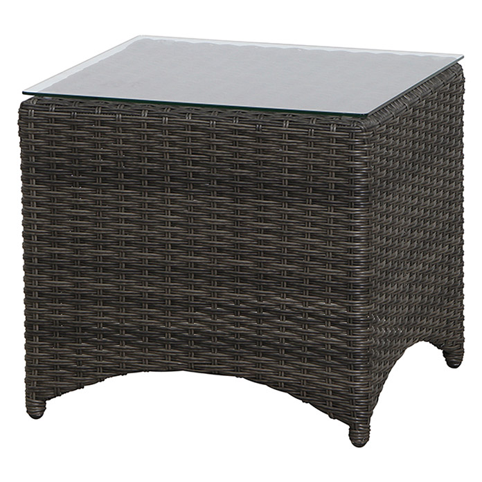 siena garden porto beistelltisch porto 49 x 49 cm polyrattan grau bauhaus. Black Bedroom Furniture Sets. Home Design Ideas