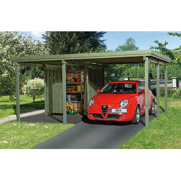 weka carport memmingen 4 33 x 5 12 m einfahrtsh he 2 15. Black Bedroom Furniture Sets. Home Design Ideas