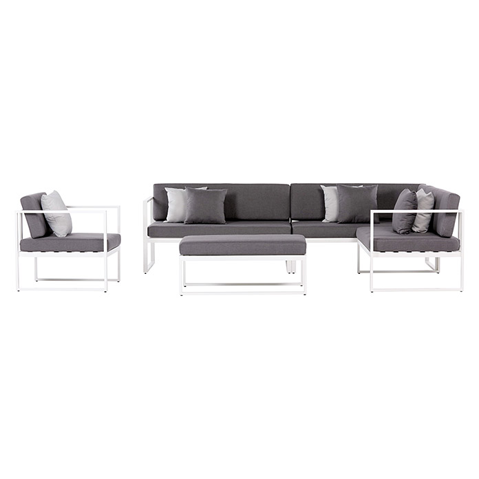 sunfun loungem bel set venice 5 tlg grau bauhaus. Black Bedroom Furniture Sets. Home Design Ideas