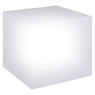 Cubo solar LED (30 x 30 x 30 cm, Con estaca, IP67)