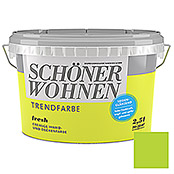 sch ner wohnen wand deckenfarbe trendfarbe fresh 2 5 l seidengl nzend bauhaus. Black Bedroom Furniture Sets. Home Design Ideas