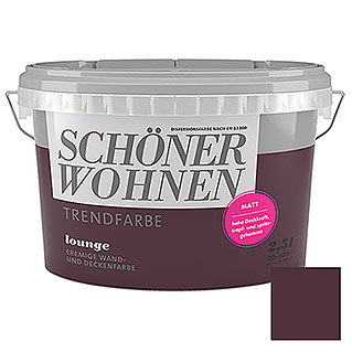 sch ner wohnen wand deckenfarbe trendfarbe tester lounge 50 ml matt bauhaus. Black Bedroom Furniture Sets. Home Design Ideas