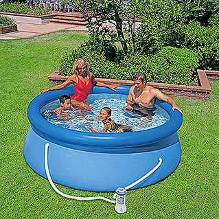 Intex Piscina Easy Pool con filtro (Ø x Al: 244 x 76 cm, 2.419 l, Azul)