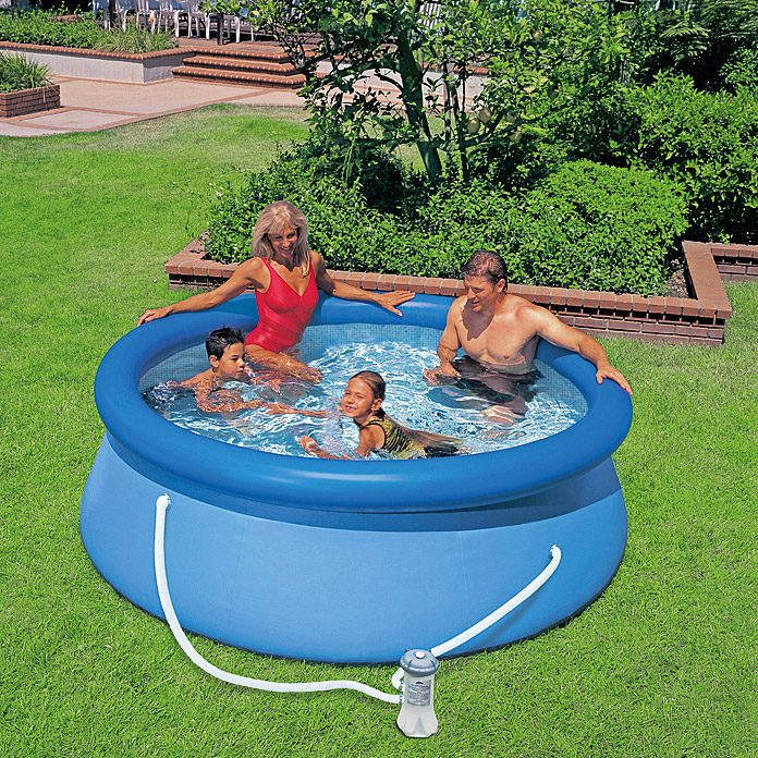 Intex easy pool set durchmesser 244 cm h he 76 cm for Bauhaus poolset