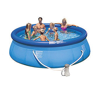 Intex Easy-Pool-Set (Ø x H: 366 x 91 cm, 6.734 l, Blau)