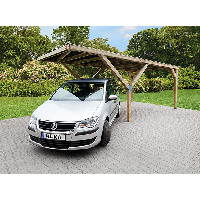 weka carport einfahrtsh he 2 41 m vorne schneelast 125 kg m 6 06 x 3 06 m 7440. Black Bedroom Furniture Sets. Home Design Ideas