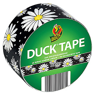 Duck Tape Kreativklebeband Rollen (Daisy, 9,1 m x 48 mm)
