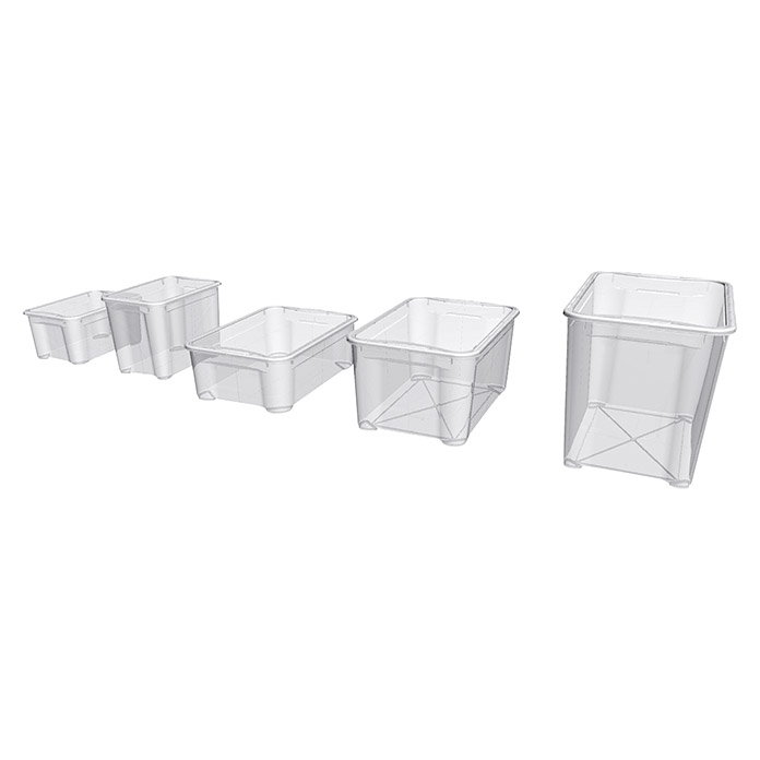 Regalux Clear Box XL (L x B x H: 54,8 x 38,4 x 42,2 cm, 70 l, Transparent)