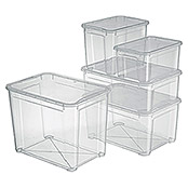 Regalux Clear Box (L x An x Al: 54,8 x 38,4 x 28,3 cm, 47 l, Transparente)