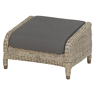 4 Seasons Outdoor Brighton Fußhocker (63 x 76 x 44 cm, Braun)