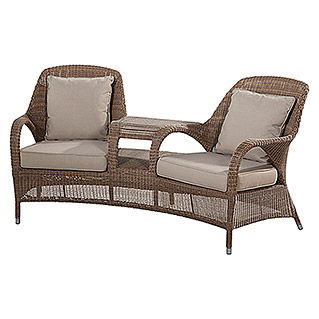 4 Seasons Outdoor Sussex Geflechtsessel (Taupe, Polyrattan, Breite: 120 cm)
