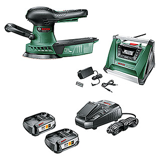 Bosch Expert Maschinenpaket Pack & Go (Akku-Exzenterschleifer Advanced Orbit 18 & Akku-Radio PRA Multi Power)