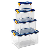 KIS Clipper Box (20 l, Blau/Transparent, Mit Deckel)