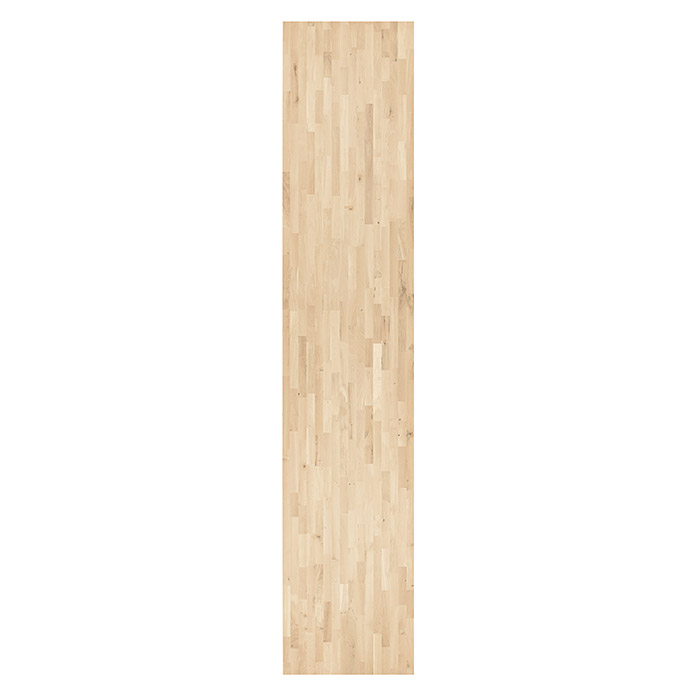 Exclusivholz Massivholzplatte (Rubberwood, 260 cm x 63,5 cm x 2,6 cm )