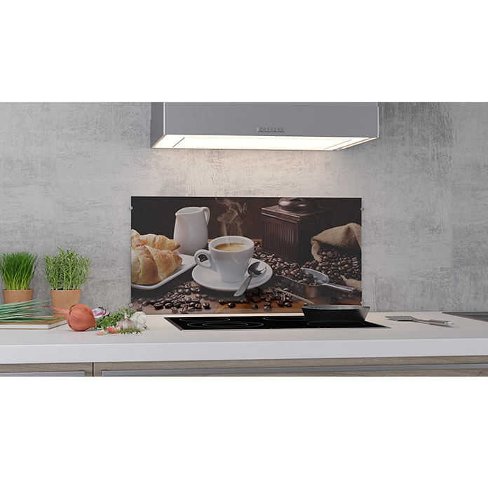 cucine k chenr ckwand coffee fragrance 80 x 40 cm st rke 6 mm einscheibensicherheitsglas. Black Bedroom Furniture Sets. Home Design Ideas