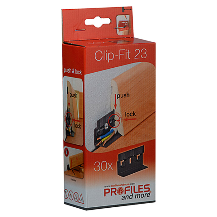 Profiles and more Leistenclip Clip-Fit CH23 (30 Stk.)