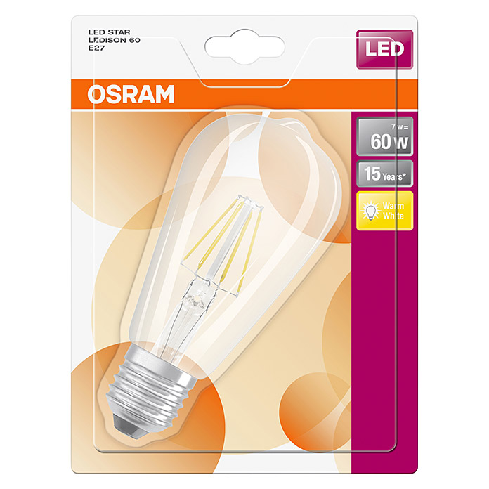 osram led leuchtmittel retrofit classic st 6 w e27 warmwei klar 3499 null cbjg. Black Bedroom Furniture Sets. Home Design Ideas