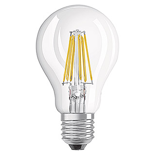 Osram Bombilla LED Retrofit Classic A (8 W, E27, A60, Blanco cálido, No regulable, Claro)