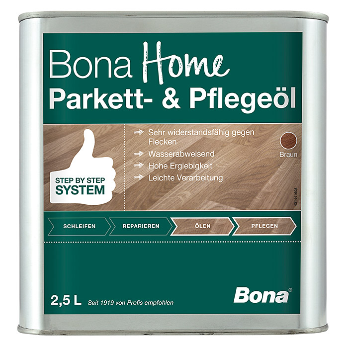 Bona Home Parkett-Pflegeöl (Braun, 2,5 l) -