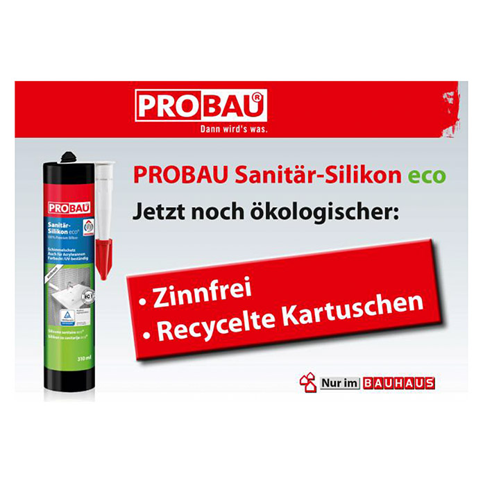 Probau eco Sanitär-Silikon (Anthrazit, 310 ml)