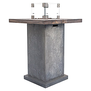 Clifton Gaskamin Table Grey (88 X 88 X 107 Cm, Betonoptik, Grau)