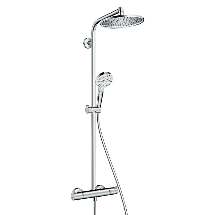 hansgrohe berkopfbrause set showerpipe crometta s 240 mit thermostatarmatur lochabstand 103. Black Bedroom Furniture Sets. Home Design Ideas