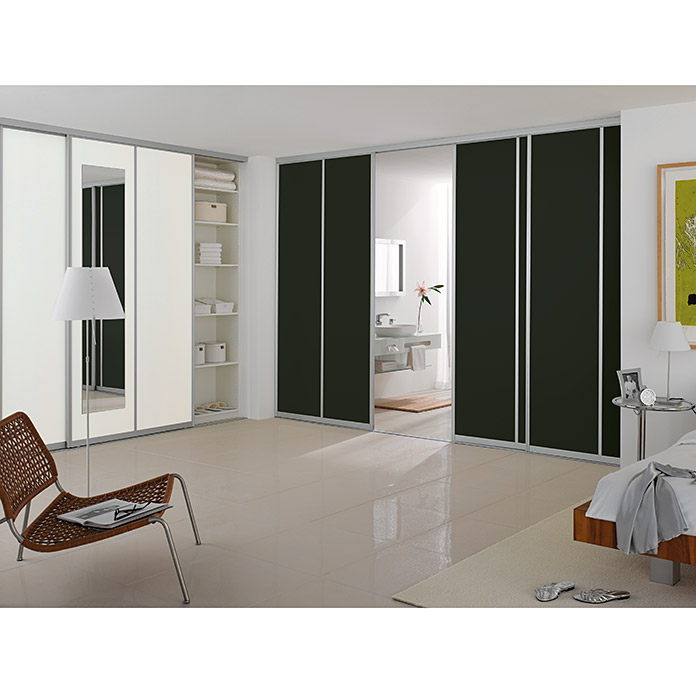 easy schiebet r bauset room plaza hochglanz schwarz. Black Bedroom Furniture Sets. Home Design Ideas