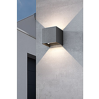 Starlux Aplique exterior LED Umea (8 W, Color: Antracita, L x An x Al: 10 x 10 x 10 cm, IP54, Cuadrada)