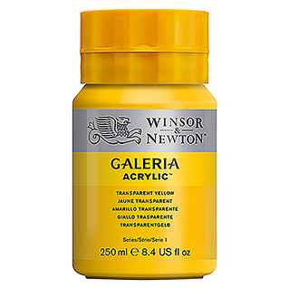 Winsor & Newton Galeria Acrylfarbe (Transparent Gelb, 120 ml, Tube)