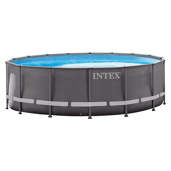 intex frame pool set ultra rondo durchmesser 488 cm h he 122 cm l bauhaus sterreich. Black Bedroom Furniture Sets. Home Design Ideas