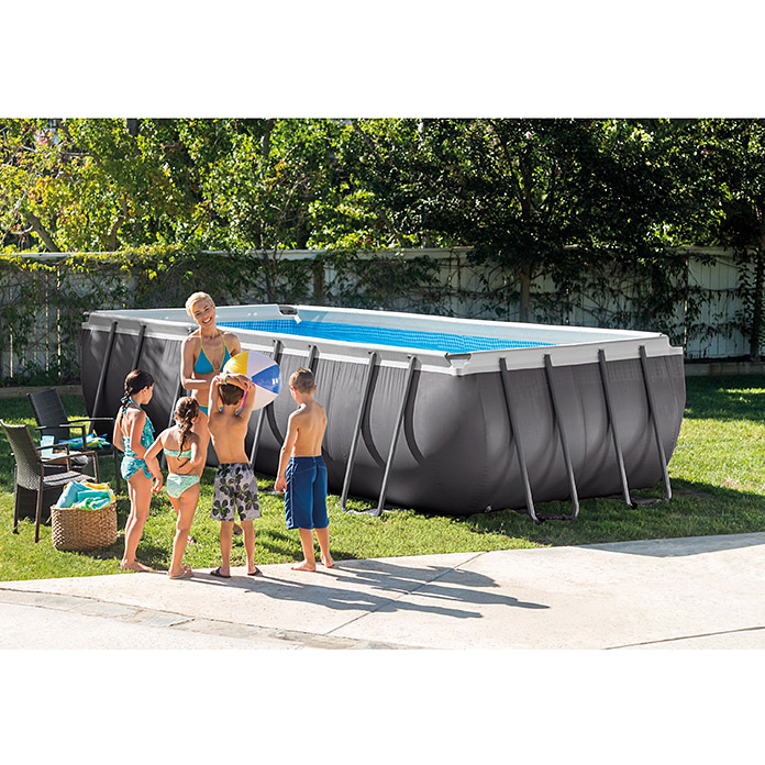 Intex Frame-Pool-Set Ultra Quadra (549 x 274 x 132 cm, 17.203 l ...