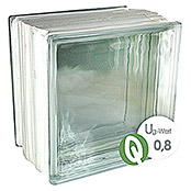 Fuchs Design Glasbaustein Thermo Block Plus (Klar, Vollsicht, 19,8 x 19,8 x 13,5 cm)