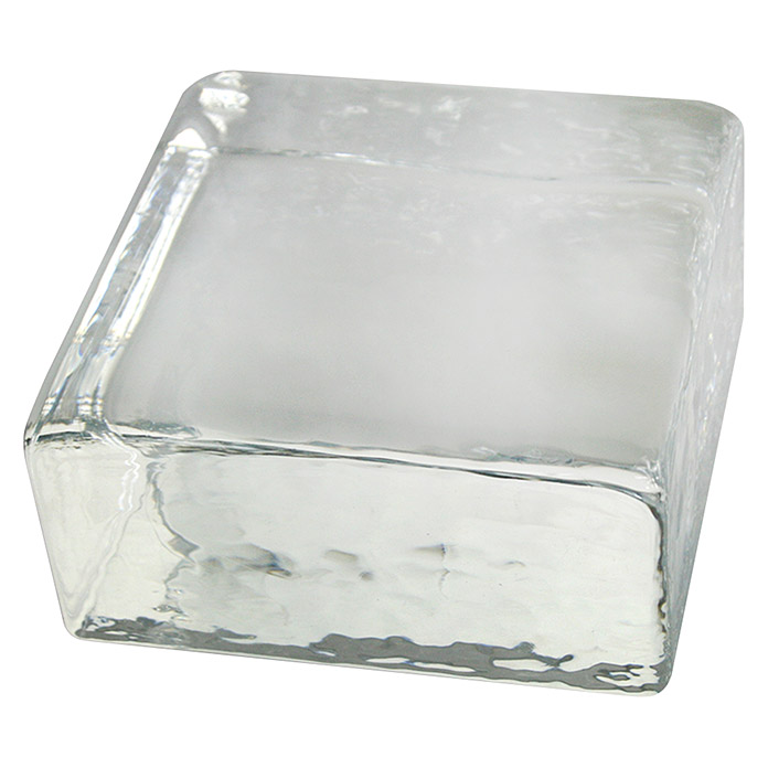 Fuchs Design Glasziegel Crystal Collection (Klar, Vollsicht, 10 x 10 x 5 cm)