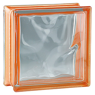 Fuchs Design Glasbaustein Reflex (Orange, Wolke, 19 x 19 x 8 cm)