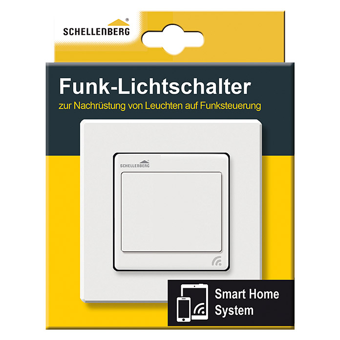 schellenberg smart home funk lichtschalter 600 w unterputz bauhaus. Black Bedroom Furniture Sets. Home Design Ideas