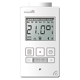 Schellenberg Smart Home Funk-Heizkörperthermostat (Passend für: Abus Smart Friends System)