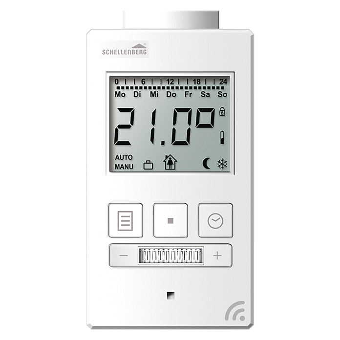 schellenberg smart home funk heizk rperthermostat passend f r smart friends system 1357. Black Bedroom Furniture Sets. Home Design Ideas