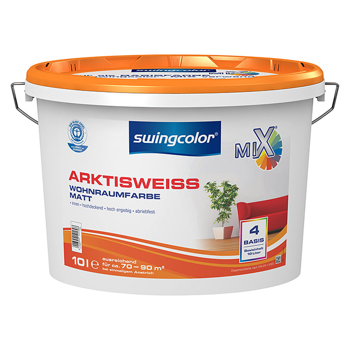 Swingcolor Mix Wandfarbe 4 (Basismischfarbe, 10 L, Matt