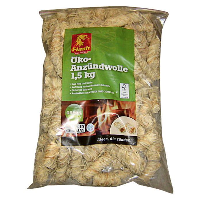 Flash Öko-Anzündwolle (1,5 kg)